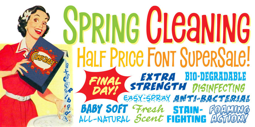 Spring Cleaning Half Price Sale